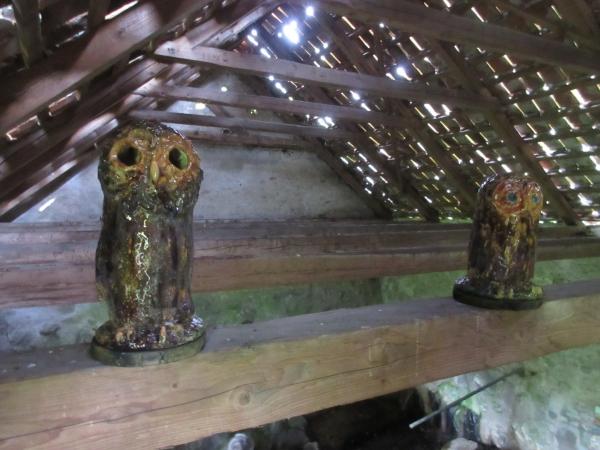 gamle keramik kopper med ugler